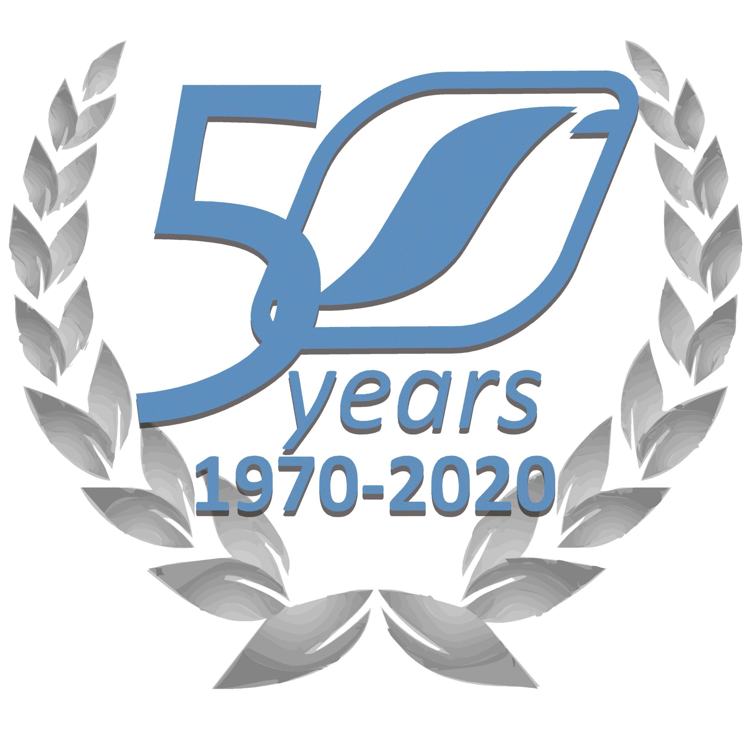 Logotipo 50 aniversario AESA Forja aluminio automoción