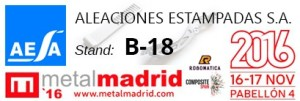 Stand Aleaciones Estampadas S.A. - AESA in Metalmadrid 2015 Industrial Show Forging for Automobile