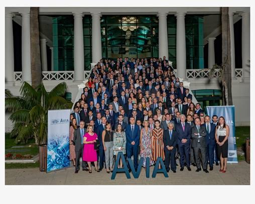 Foto de Grupo de los asistentes de AVIA y AESA a la Noche del Motor de la CV