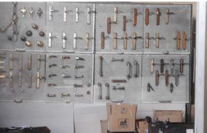 Muestrario manivelas MyF Metal Acabado superficial
