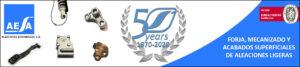 Pie de firma 50 aniversario AESA Forja aluminio automoción