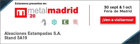 Banner participación AESA Feria Metalmadrid 2020