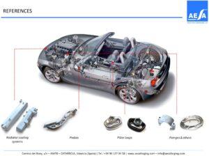 Piezas forjadas aluminio automoción